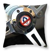 1965 Shelby Cobra 427 Steering Wheel Emblem Throw Pillow