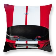 1965 Shelby Cobra Front Grille - Emblem Throw Pillow
