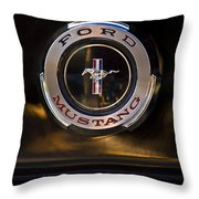 1965 Shelby Prototype Ford Mustang Emblem 2 Throw Pillow