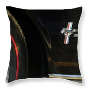 1965 Shelby Prototype Ford Mustang Emblem -0248c Throw Pillow