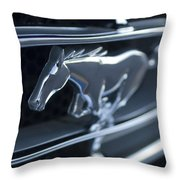 1965 Shelby Prototype Ford Mustang Grille Emblem 2 Throw Pillow