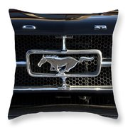 1965 Shelby Prototype Ford Mustang Hood Ornament Throw Pillow