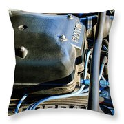 1965 Shelby Prototype Ford Mustang Paxton Engine Throw Pillow