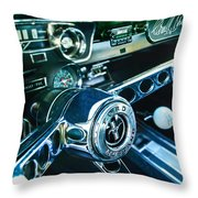 1965 Shelby Prototype Ford Mustang Steering Wheel Emblem 2 Throw Pillow