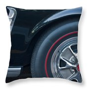 1965 Shelby Prototype Ford Mustang Wheel 3 Throw Pillow