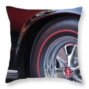 1965 Shelby Prototype Ford Mustang Wheel And Emblem Throw Pillow