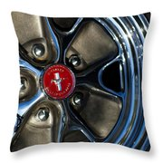 1965 Shelby Prototype Ford Mustang Wheel Throw Pillow