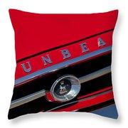 1965 Sunbeam Tiger Grille Emblem Throw Pillow