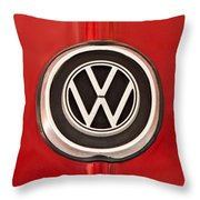1965 Volkswagen Vw Karmann Ghia Emblem Throw Pillow