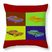 1966 Chevrolet Caprice 427 Muscle Car Pop Art Throw Pillow