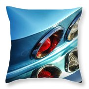 1966 Chevrolet Corvette Taillight -120c Throw Pillow