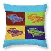 1966 Chevy Chevelle Ss 396 Car Pop Art Throw Pillow