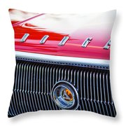 1966 Dodge Charger Grille Emblem Throw Pillow