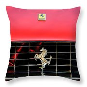 1966 Ferrari 330 Gtc Coupe Hood Emblem -0391c Throw Pillow