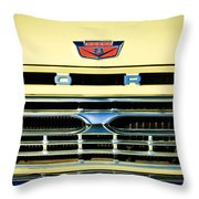 1966 Ford Pickup Truck Grille Emblem Throw Pillow