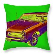 1966 Pointiac Lemans Car Pop Art Throw Pillow