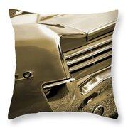 1966 Pontiac Gto Tail In Sepia Throw Pillow