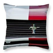 1966 Shelby Cobra Gt 350 Grille Emblem Throw Pillow