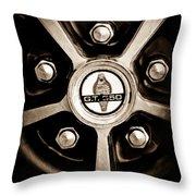 1966 Shelby Cobra Gt350 Wheel Rim Emblem Throw Pillow