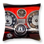 1966 Volkswagen Vw Karmann Ghia Steering Wheel Throw Pillow