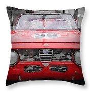 1967 Alfa Romeo Gtv Watercolor Throw Pillow