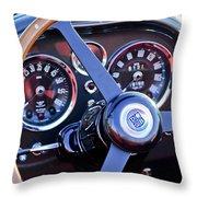 1967 Aston Martin Db6 Volante Steering Wheel 2 Throw Pillow
