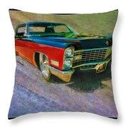 1967 Cadillac Coupe Throw Pillow
