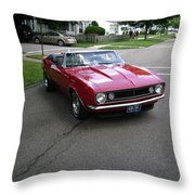 1967 Camaro Ragtop Throw Pillow