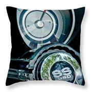 1967 Chevrolet Camaro  Ss Steering Wheel Emblem Emblem Throw Pillow