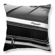 1967 Chevrolet Camaro Ss350 Convertible Grille Emblem -0704bw Throw Pillow