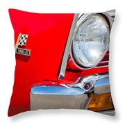 1967 Chevrolet Chevelle Ss Emblem Throw Pillow