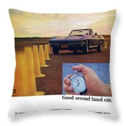 1967 Chevrolet Corvette Throw Pillow