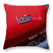 1967 Chevrolet Corvette Taillight Emblem Throw Pillow
