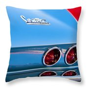 1967 Chevrolet Corvette Taillights Throw Pillow