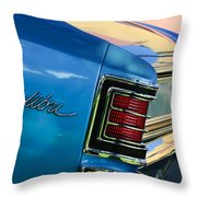 1967 Chevrolet Malibu Taillight Emblem Throw Pillow