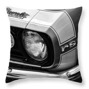 1967 Chevy Camaro Rs Throw Pillow