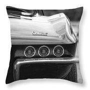 1967 Chevy Corvette Stingray Throw Pillow