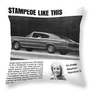 1967 Dodge Charger Throw Pillow
