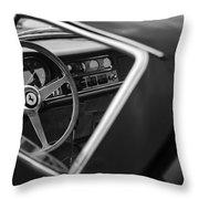 1967 Ferrari 275 Gtb-4 Berlinetta Steering Wheel Throw Pillow by Jill Reger
