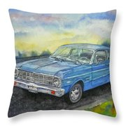1967 Ford Falcon Futura Throw Pillow