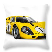 1967 Ford Gt 40 Mk Iv Throw Pillow