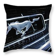 1967 Ford Mustang Gt Grille Emblem Throw Pillow