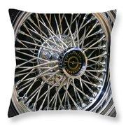 1967 Ford Thunderbird Wire Wheel Throw Pillow