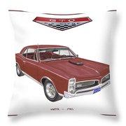 1967 G T O Pontiac Throw Pillow