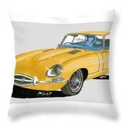 1967 Jaguar X K E Coupe Throw Pillow