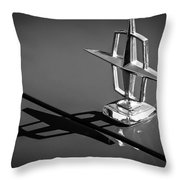 1967 Lincoln Continental Hood Ornament -1204bw Throw Pillow