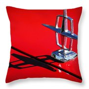 1967 Lincoln Continental Hood Ornament -1204c Throw Pillow