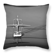 1967 Lincoln Continental Hood Ornament -158bw Throw Pillow