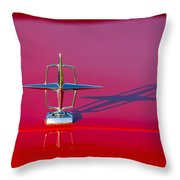 1967 Lincoln Continental Hood Ornament -158c Throw Pillow