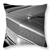 1967 Lincoln Continental Hood Ornament - Emblem -646bw Throw Pillow
